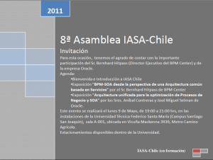 invitación IASA Chile